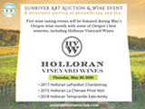 Bill Holloran, Owner, and Mark LaGasse, Winemaker, Holloran Vineyard Wines will guide you through a tasting of their award winning wines. - Uploaded by srwcartauction