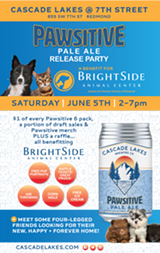 Pawsitive Pale Ale Release Party to Benefit BrightSide Animal Center - Uploaded by DVA Adv & PR