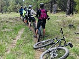 Group of mountain bikers through the Metolius Preserve - Uploaded by Cara Frank