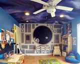 NICOLE FONTANA - Astronaut Room for 6yo boy with Milky-way ceiling finish.