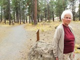 BARBARA MCAUSLAND IS ONE OF MANY NEIGHBORS WHO ARE WORRIED ABOUT ACCESS ISSUES AT SUNSET VIEW PARK.