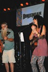 <b>24 HOURS OF POWER </b> Members of Sonoma Coma get their groove on at the 2014 NorBay Awards.