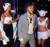 <b>AYY-O!</b> Wayne Coyne backstage with the Flaming Lips' volunteer dance brigade.