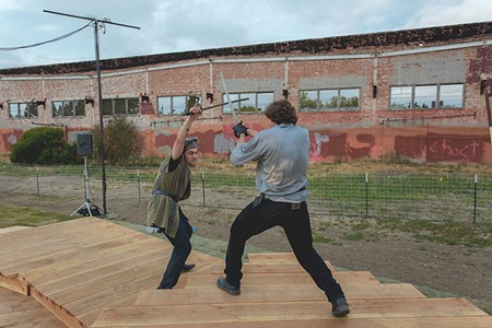 BARD RAISING How hard could staging a play amid old ruins be? Turns out it's a real battle. - JOSHUONE BARNES