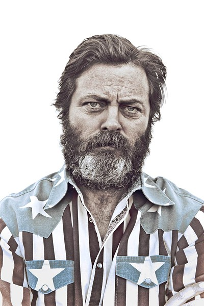 BEARD & LOATHING Nick Offerman is fed up with the American political scene.