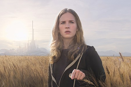 BETWEEN WORLDS Britt Robertson travels between present and future to meet George Clooney and a girl robot.