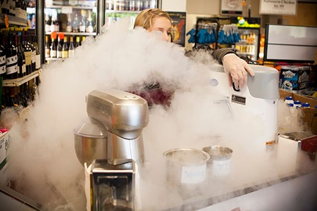 BILLOWING NitroKarma's ice cream is as much fun to order as to eat. - SARA SANGER
