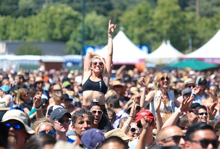 BOTTLEROCK AND ROLL Three-day tickets for BottleRock are sold-out, so expect more crowds like this next weekend.