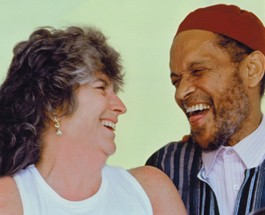 BRIGHT MOMENTS Promoter Jessica Felix and late drummer Billy Higgins share a laugh. - ANDY CAUDILLO