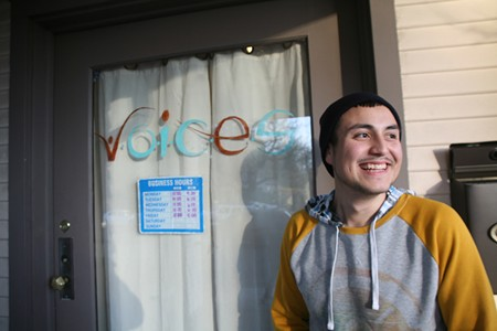 BRIGHTER DAY Jimmy Toro outside VOICES, which provides counseling and guidance to homeless and at-risk youth. - LEILANI CLARK