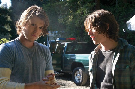 BROTHERLY LOVE Spencer Treat Clark and Nick Eversman are on the run in Guerneville.
