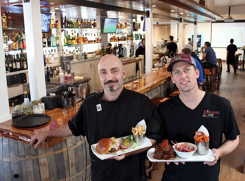 BURGERLICIOUS Chef Carlo Cavallo and proprietor Codi Binkley show off some tasty meat at their Sonoma restaurant.
