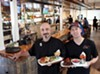 <b>BURGERLICIOUS</b> Chef Carlo Cavallo and proprietor Codi Binkley show off some tasty meat at their Sonoma restaurant.