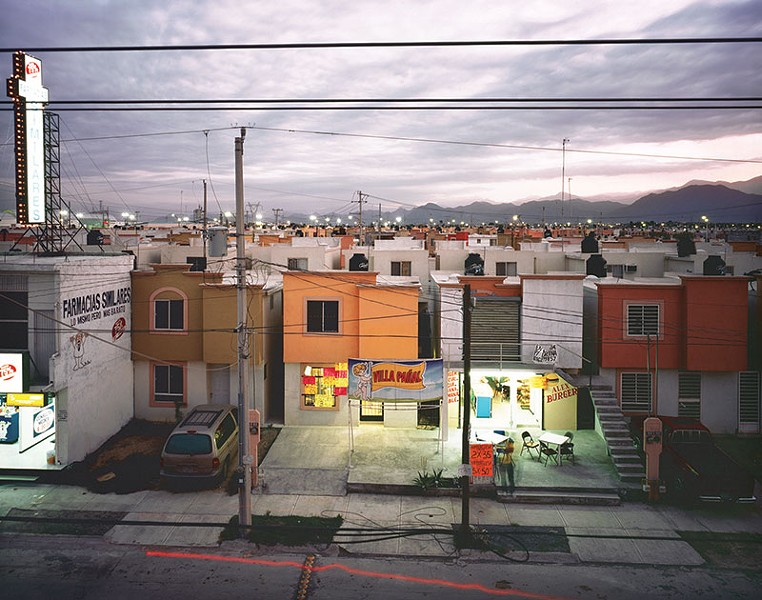 'BUSINESS IN A NEWLY BUILT SUBURB IN JUAREZ' A 2009 photograph by Alejandro Cartagena finds beauty in the banal. - ALEJANDRO CARTAGENA