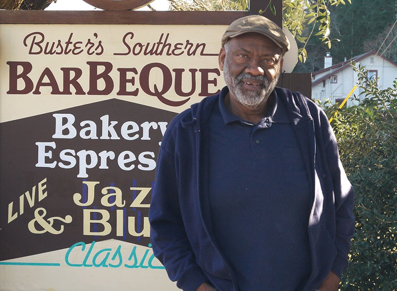 CALISTOGA COOKER Buster Davis cooks between 35 and 50 giant chunks of his famous tri-tip on weekends. - BROOKE JACKSON