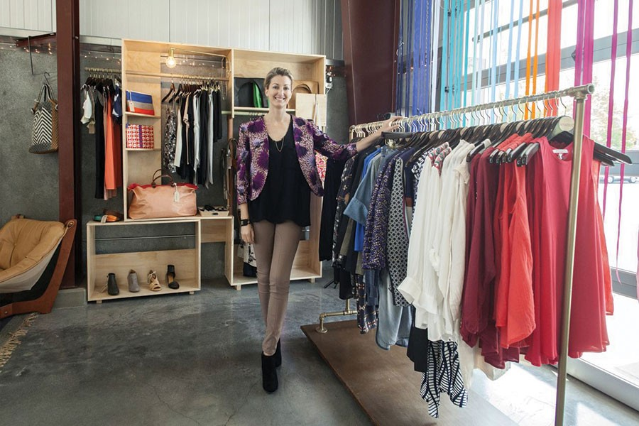 COUTURE CULTURE Fashion designer Andrea Kenner cultivates North Bay fashion at her shop Tamarind. - MICHAEL AMSLER
