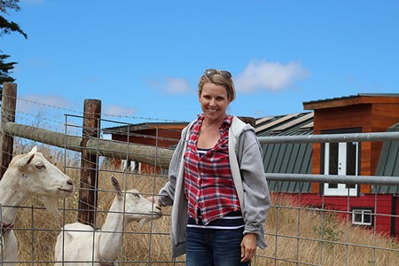 DAIRY QUEEN Tamara Hicks and her husband keep about 200 goats that roam freely over Toluma Farms' acreage.