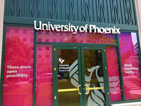 DEFAULT THIS! Gov. Brown's budget axes the Cal Grant for colleges with higher default rates, like the University of Phoenix.