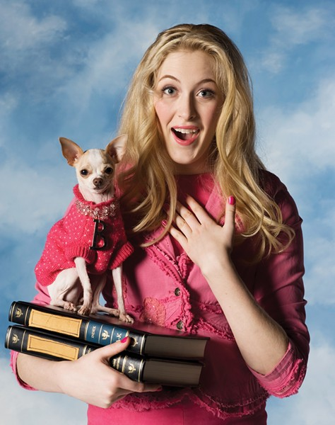 DELTA NU NU NU Sigrid Forsythe as Elle in 'Legally Blonde' at the SRJC. - TOM CHOWN