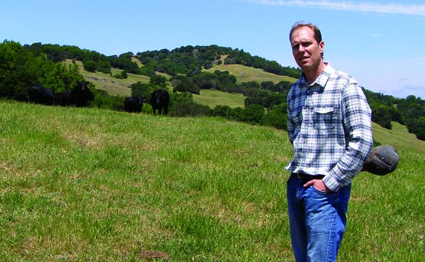 DON'T HAVE A COW Bill Reed, seen at his cattle ranch in Petaluma, says importing beef from Uruguay can be sustainable. - JAMES KNIGHT