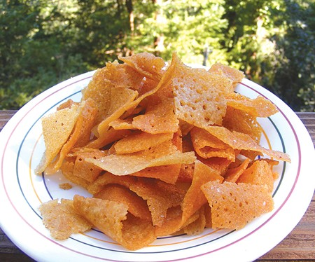 DOSE OF REALITY It takes three days to make a batch of Dosa Chips, but just minutes to eat a whole bag.