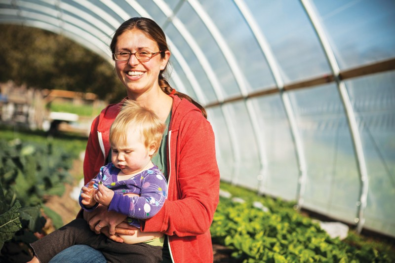 FAMILY FARM Elli Rose, pictured with baby, Olivia, was hired at WHOA last year - SARA SANGER