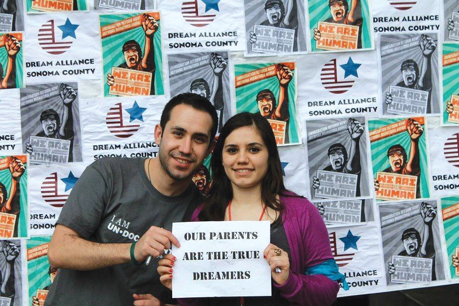 FAMILY TIES Jesús Guzmán with his sister, Diana; the two have been helping other immigrant youth and working for reform. - COURTESY DREAM ALLIANCE OF SONOMA COUNTY