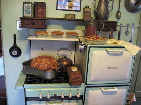 FEAST! Get jealous over Luther Burbank's beautiful Wedgewood stove at the Luther Burbank Home & Gardens Open House on Dec. 7-8.