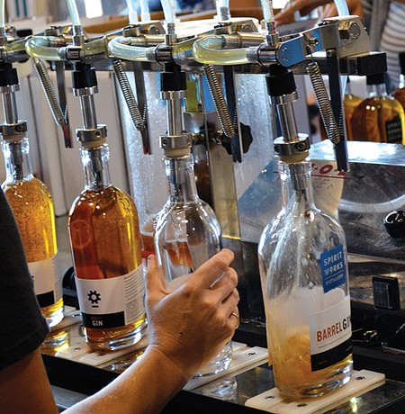 FILL 'ER UP SpiritWorks' aged gin takes on flavors of vanilla and carmelized wood.