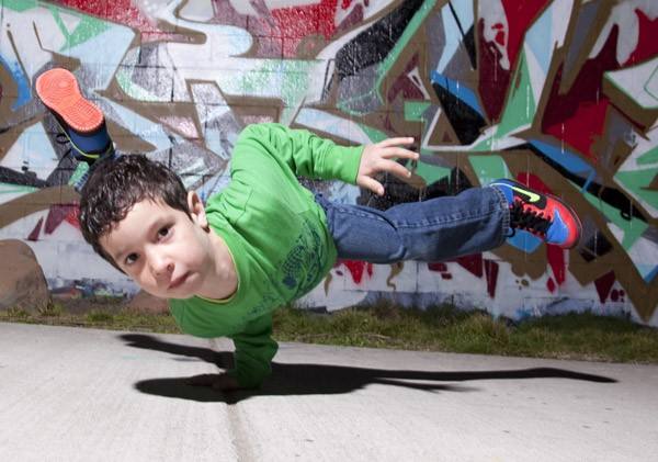FRESH Five-year-old J-Fresh represents a new breed of breakers. - MISHA MILLER