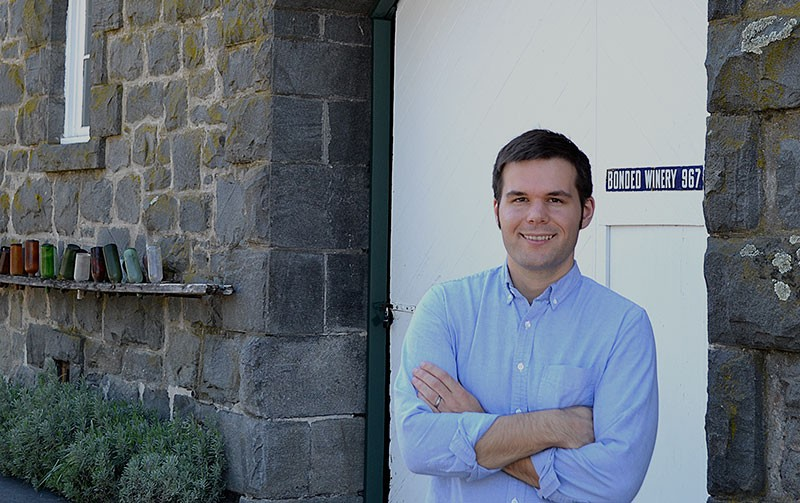 GENERATIONS Harrison Heitz's grandfather, Joe, bottled the first Heitz Cellar wine over 40 years ago.