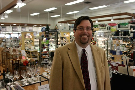 GIFTS GALORE Keven Brown of Corrick's, which is gearing up for a centennial. - ELIZABETH SEWARD