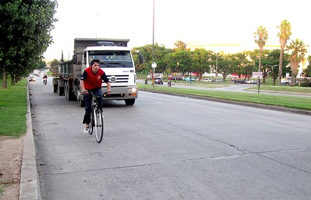 GIVE 'EM ROOM Cars will now be required to give cyclists a three-foot buffer when passing.