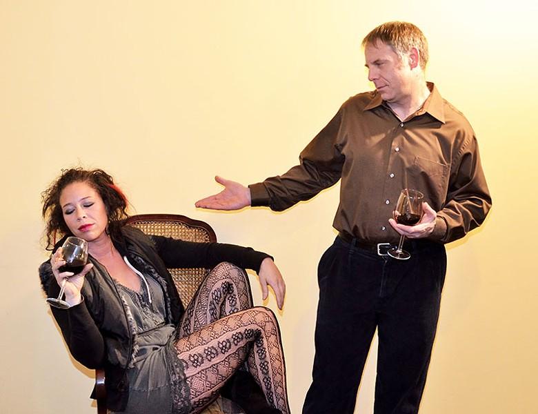 GLASS & SASS Raena Jones and Matthew T. Witthaus in 'Taste.'