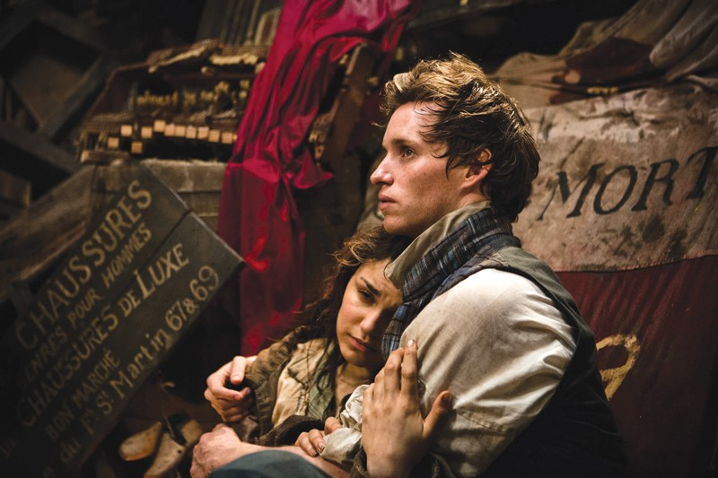 GOD KNOWS HOW I'VE LASTED Samantha Barks as Eponine and Eddie Redmayne as Marius.