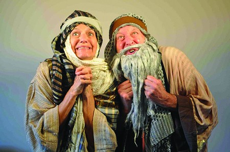 GOOD GOD Fake beards, made-up historical scenarios and real laughter.