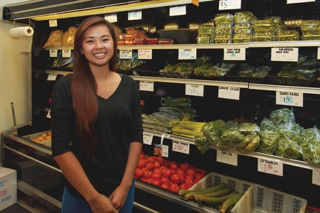 GREEN GROCER Yen Truong notices more customers reaching for healhier food and drink at her family's Mekong Market. - JOSHUONE BARNES