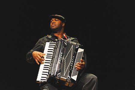 HABERDASHER Zydeco wizard Bruce 'Sunpie' Barnes wears dozens of hats.