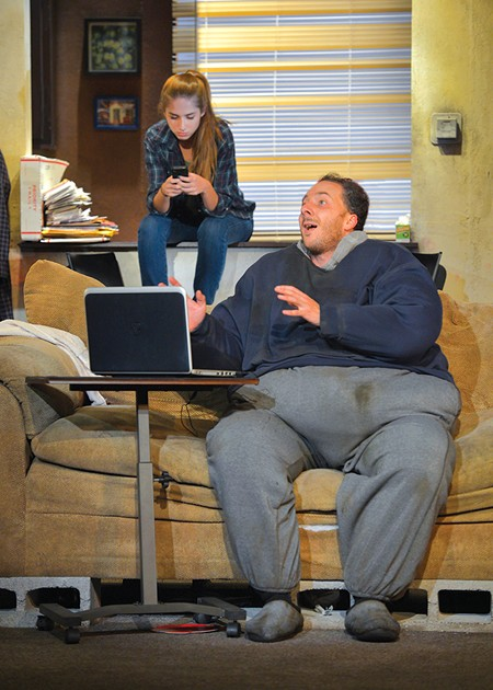 HEAVY Nicholas Pelczar's performance as couch-bound Charlie is inspirational. - KEVIN BERNE