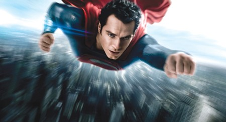 HERO'S DUTY Henry Cavill supplies the pleasing heroics in this 'Superman' re-up.