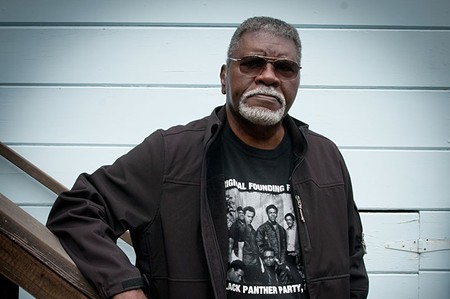 IN CHARGE Elbert 'Big Man' Howard leads this week's Panther reunion. - JOHN BLACKWELL