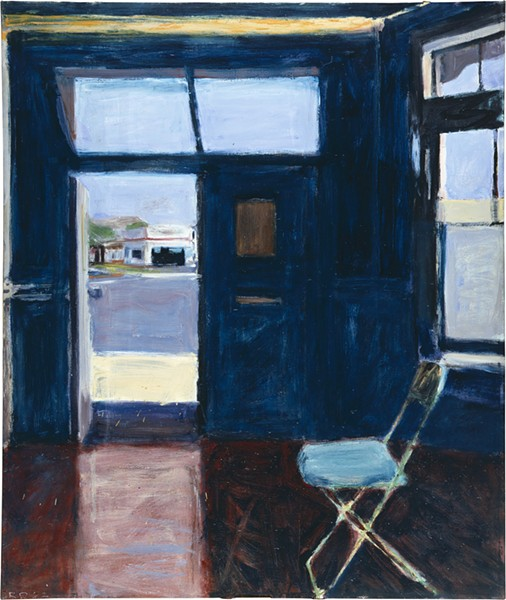 'INTERIOR WITH DOORWAY' Oil on canvas 1962, on display at the de Young. - RICHARD DIEBENKORN FOUNDATION