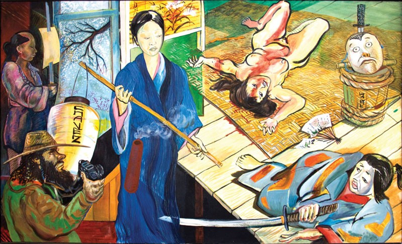 'JEALOUSY OR GUILT (THE TALE OF GENJI)' Roberto Chavez's large retrospective includes 60 works.