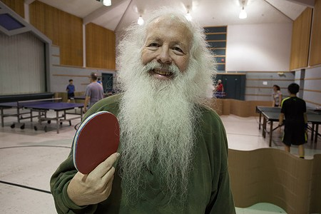 KING PONG David Kent heads up the Santa Rosa Table Tennis Club. - GREG RODEN