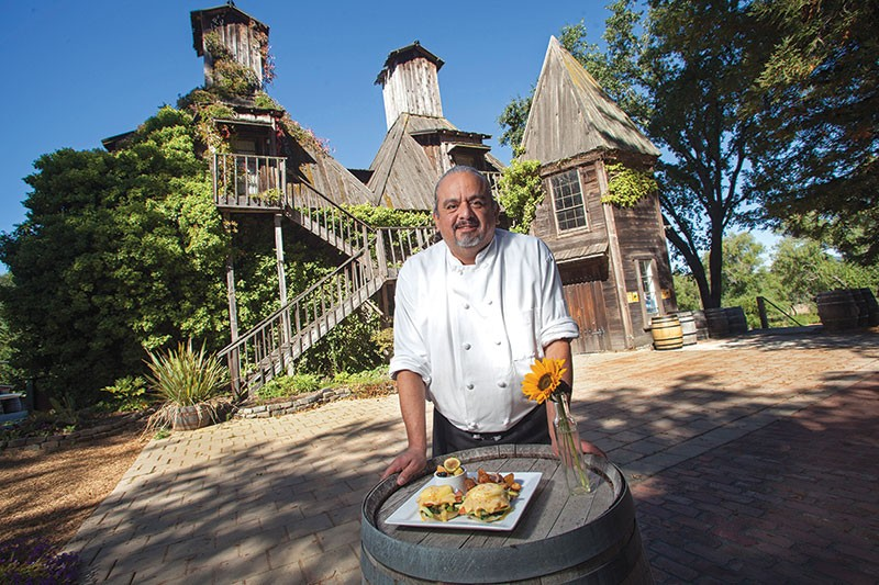 KITCHEN ART Fast-witted and creative, chef Ruben Gomez is also behind a classic, unpretentious menu at Corks. - MICHAEL AMSLER