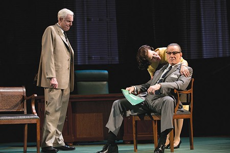 LBJ ON BROADWAY Bryan Cranston (right) plays Lyndon Johnson in Tony-winning 'All the Way.'