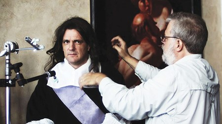 LENS CRAFT Graham Toms models for Tim Jenison's reproduction of Vermeer's 'Music Lesson.'
