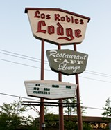 Los Robles Lodge, site of the infamous 1971 Football Riot.