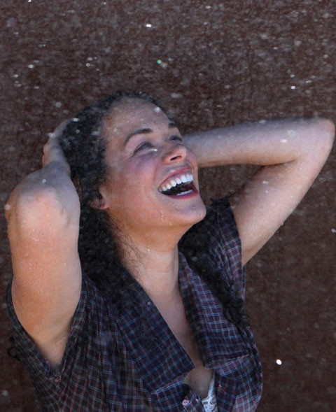 MAKE IT RAIN Kelly Britt plays the skeptical Lizzie in '110 in the Shade.' - JENNY ELWICK