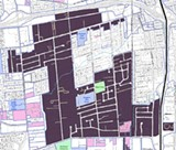 MAPPING THE HOLE Surrounded by the city, much of Roseland is a county pocket with complex jurisdiction.